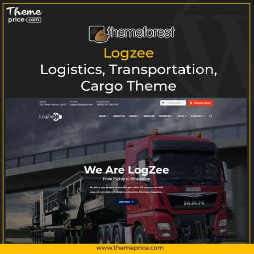 Logzee | Logistics, Transportation, Cargo Theme