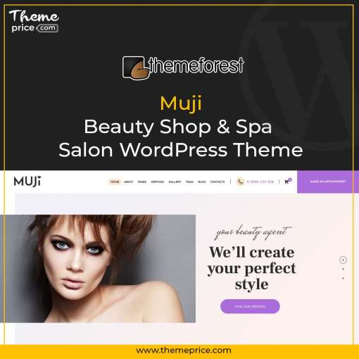 Muji Beauty Shop & Spa Salon WordPress Theme-min