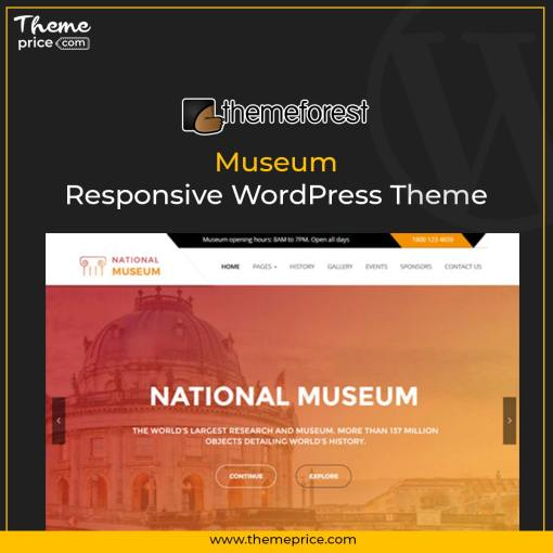 Museum – Responsive WordPress Theme