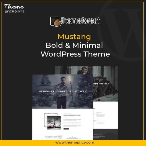 Mustang – Bold & Minimal WordPress Theme
