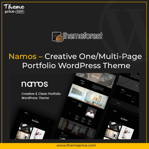 Namos – Creative One/Multi-Page Portfolio WordPress Theme