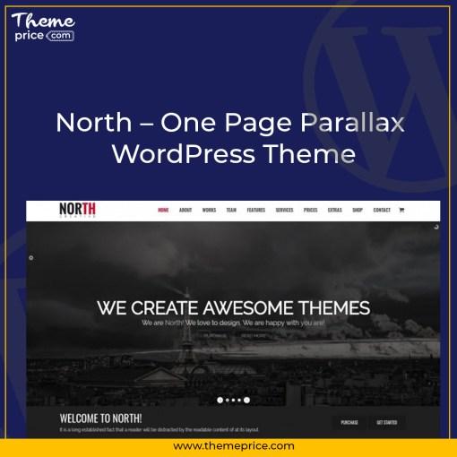 North – One Page Parallax WordPress Theme