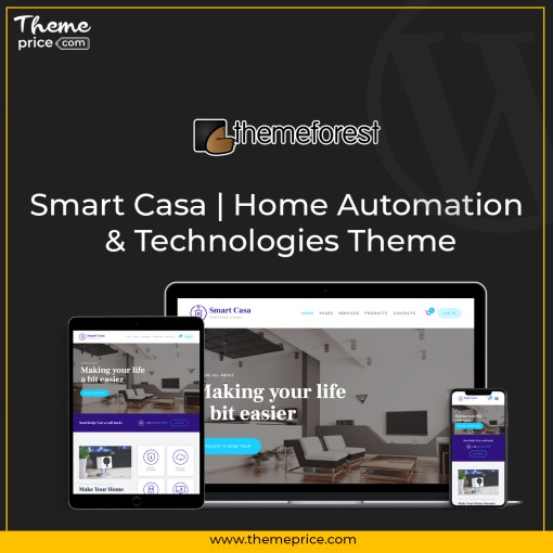 Smart Casa | Home Automation & Technologies Theme