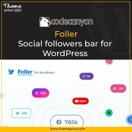 Social followers bar for WordPress – Foller