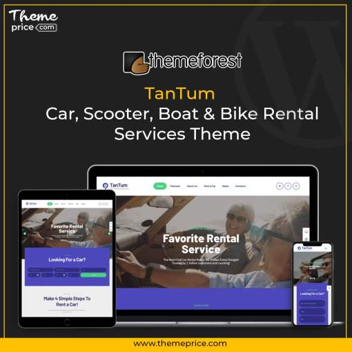 TanTum | Car, Scooter, Boat & Bike Rental Services Theme