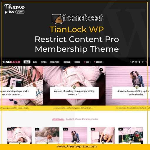 TianLock WP – Restrict Content Pro / Membership Theme