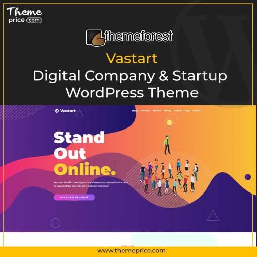 Vastart – Digital Company & Startup WordPress Theme