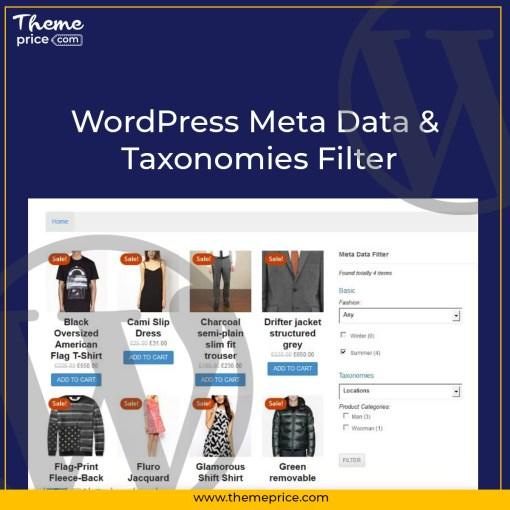 WordPress Meta Data & Taxonomies Filter