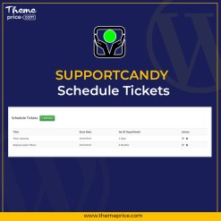 SupportCandy Schedule Tickets