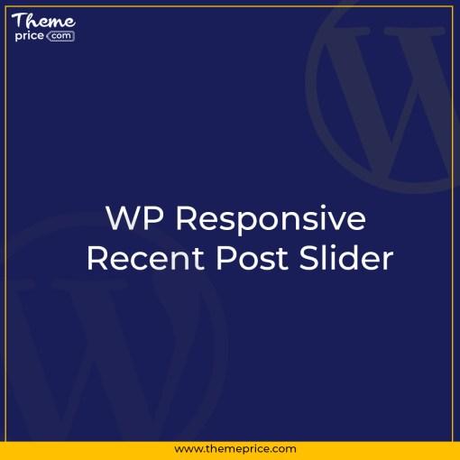 WP Responsive Recent Post Slider