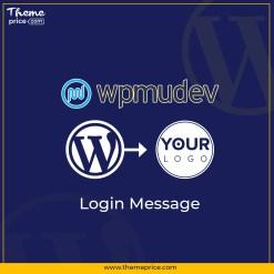 WPMU DEV Login Message
