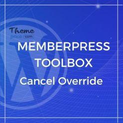 MemberPress Toolbox – Cancel Override