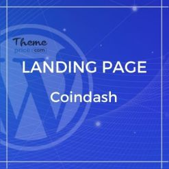 Cryptocurrency Saas Landing Page Template – Coindash