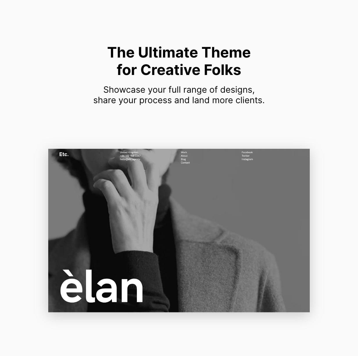 Etc Creative Portfolio WordPress Theme