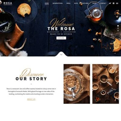 ROSA An Exquisite Restaurant WordPress Theme
