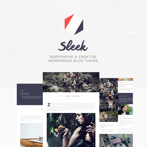 Sleek Responsive Creative WordPress Blog Theme
