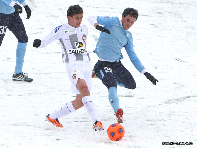 Joseph di Chiara playing for Russian Premier League side Kyrlya Sovetov Samara.