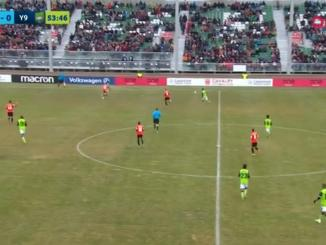Empty seats in the main grandstand at Cavalry's home opener.