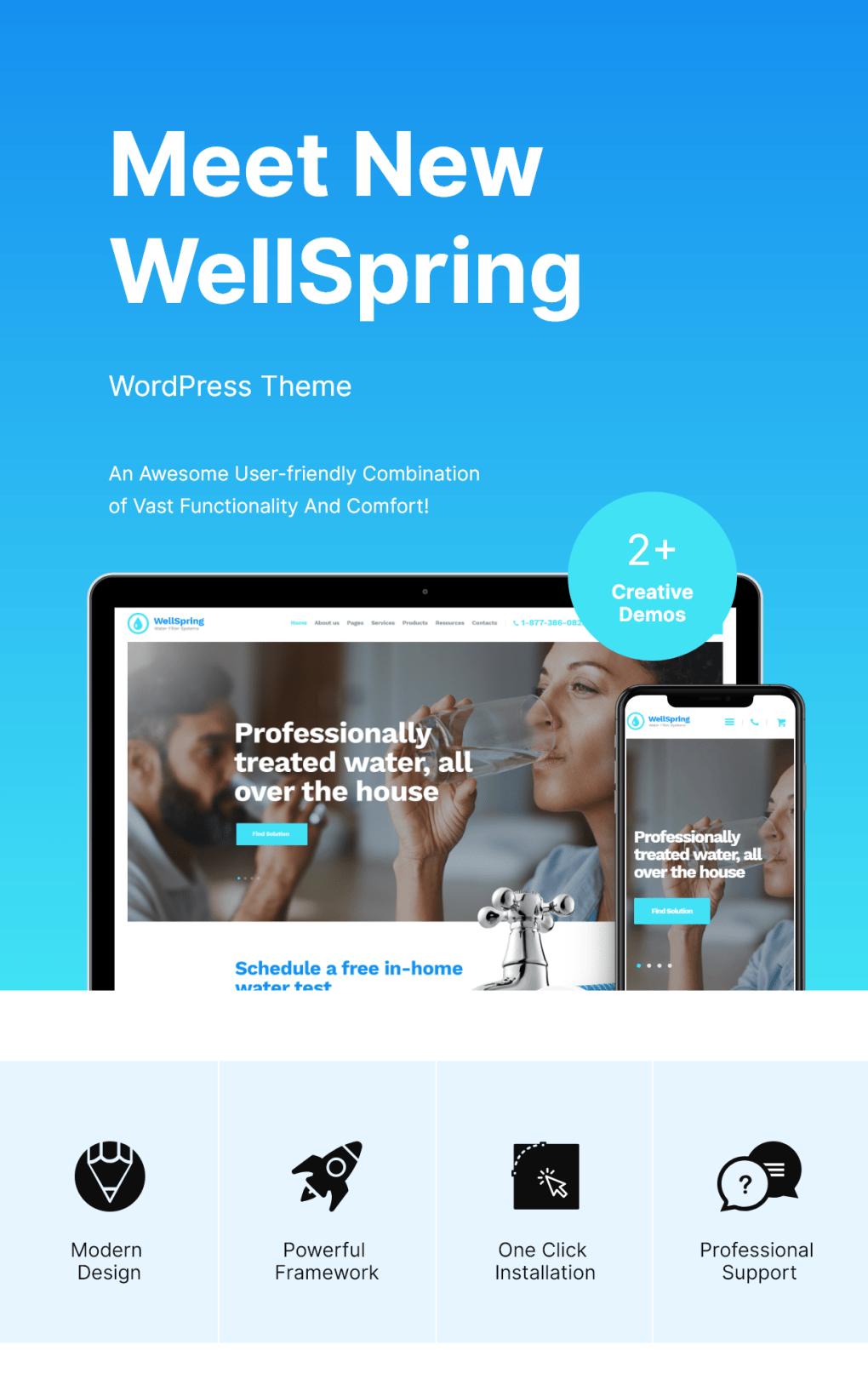 WellSpring | Filtres à eau et l'eau potable livraison WordPress Theme-2
