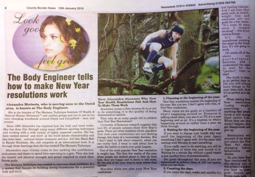 Oxted County border news - Make new year resolutions work