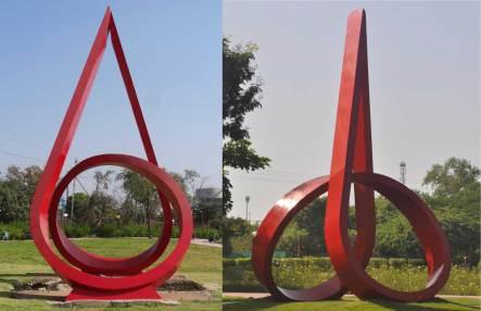 Red-Sculpture---Drop-of-Blood-&-Vandana
