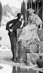 Merlino e Viviana - Albert Herter 1899