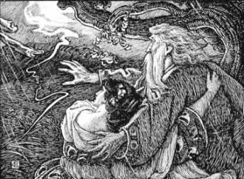 Merlino e Viviana - Louis Rhead 1898