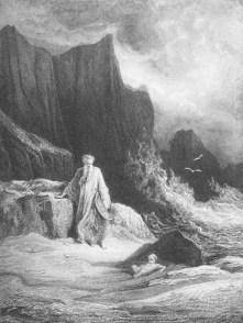 Merlino e Artù bambino - Gustave Doré 1867