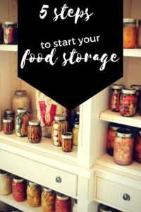Are you ready to start being more prepared for your family in case of emergencies? Read below for 5 tips to start your Food Storage or Stockpiling food.