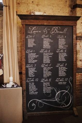 Blackboard seating plan
