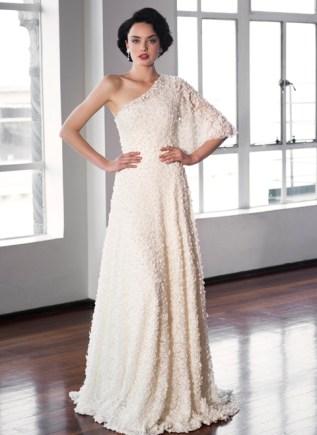 Asymmetric wedding dress – Pearl Bridal collection