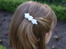 Flower girl rose clip from missfrilly.co.nz