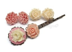 Hair clips, by visionofbeautydesign on etsy.com