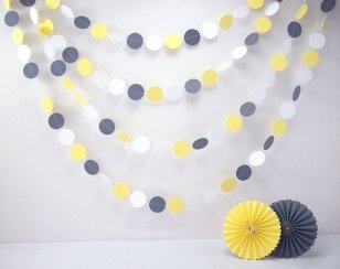 Paper garland, by BeeBuzzPaperie on etsy.com