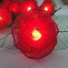 Red rose fairy lights, by marwincraft on etsy.com