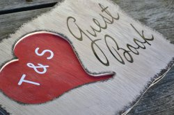 Wooden guestbook, by TheVarietyShop on etsy.com