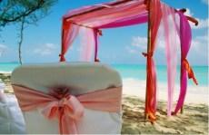 Beach ceremony set-up
