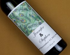 Custom wine bottle label, by haomaihanger on etsy.com