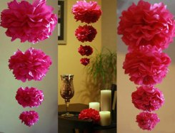 Pompom garlands, by PomGLOW on etsy.com