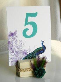 Table numbers, by WeddingSundae on etsy.com