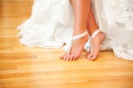 Barefoot sandals for a beach wedding, by StellasDesign on etsy.com