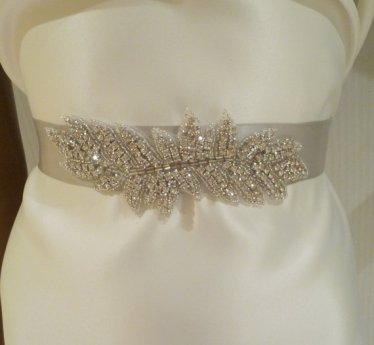 Bridal sash, by BellaCescaBoutique on etsy.com