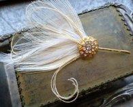 Hair jewellery fascinator pin, by RoseoftheMire on etsy.com