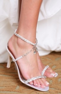 Hilton shoes, from fairytalebridal.co.nz