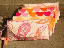 Set of bridesmaid clutch purses, by FrankieLloyd on etsy.com