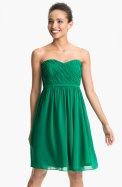 Donna Morgan Pleated Sweetheart Neckline Chiffon Dress, from shop.nordstrom.com