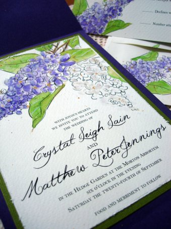 Handpainted Invitation, by everafterpapery on etsy.com