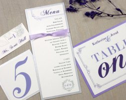 Table number, placecard, menu combo pack, by BeaconLane on etsy.com