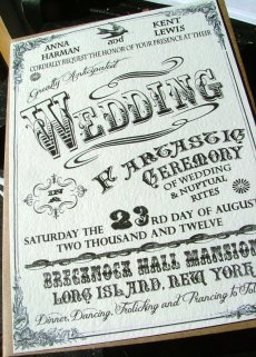 Vintage circus-style invitation, by sweetcookie on etsy.com