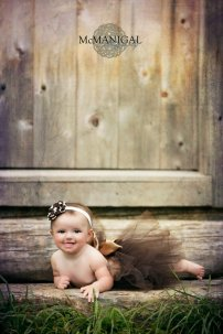 Flower girl baby tutu, by BambaroosBoutique on etsy.com